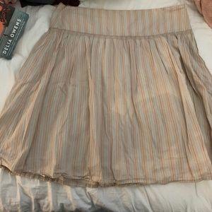 Tan striped skirt